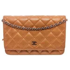 Chanel Bronze Caviar Leather Wallet On Chain Bag
